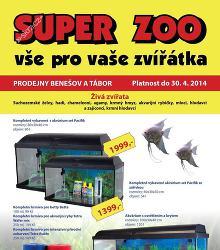 Akční leták SuperZoo - duben Tábor a Benešov
