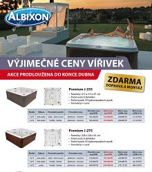 Akční leták Albixon Vyjímečné ceny vířivek