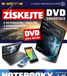 Akční leták Úchvatný film Gravitace jako DÁREK v DATARTu!