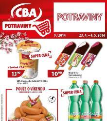 Akční leták CBA Potraviny