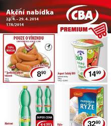 Akční leták CBA Premium