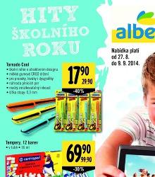 Akční leták Albert Hypermarket Hity školního roku