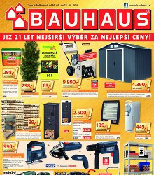 Akční leták BAUHAUS Již 21 let nejširší výběr za nejlepší ceny!