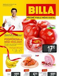 BILLA Leták Brno Medlánky od středy 22. 10., 22. 10. – 28. 10. 2014