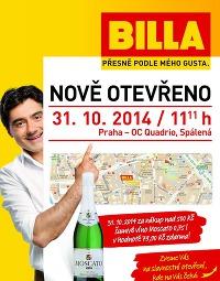 BILLA Předotevírací leták Praha Quadrio od středy 22. 10., 22. 10. – 28. 10. 2014