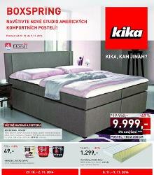 Akční leták Kika Navštivte nové studio amerických komfortních postelí!