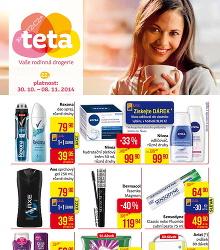 Akční leták TETA drogerie Leták pro Nové Teta prodejny