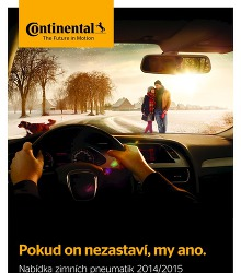 Akční leták Continental - Pokud on nezastaví, my ano.