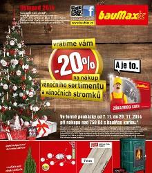 Akční leták bauMax Listopad 2014