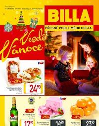 BILLA Malý leták od středy 17. 12., 17. 12. – 24. 12. 2014