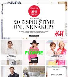 Akční leták H&M - Získejte 25% slevu