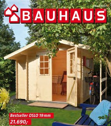 Akční leták BAUHAUS Katalog zahradních domků 2015