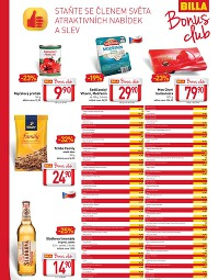 BILLA Leták Bonus clubu od středy 25. 2., 25. 2. – 10. 3. 2015