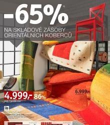 Akční leták XXXLUTZ -65% na skladové zásoby koberců