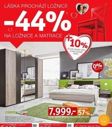 Akční leták XXXLUTZ -44% NA LOŽNICE A MATRACE