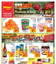 Akční leták Penny Market od čtvrtka 26.11. pro vybrané prodejny (viz níže)