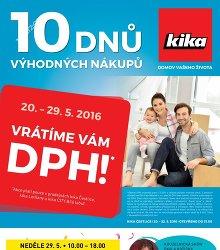 Akční leták Kika Inspirace pro vaše bydlení platí pro pražské pobočky