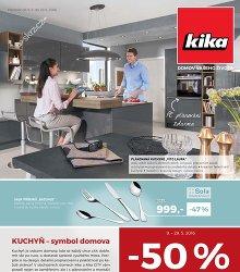 Akční leták Kika Kuchyně - symbol domova
