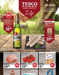 TESCO Leták Supermarkety, 15. 6. – 21. 6. 2016