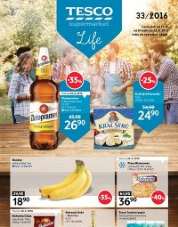 TESCO Leták Supermarkety, 17. 8. – 23. 8. 2016