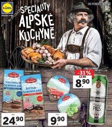 Akční leták Lidl Alpské speciality